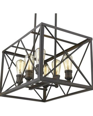 Gracie Oaks Maly 6-Light Square/Rectangle Chandelier X111075786