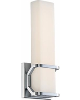 """Platinum Collection Axis 13"""" High Chrome LED Wall Sconce"""