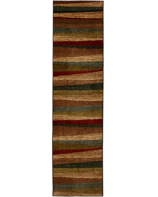 Mohawk Home Mayan Sunset Sierra 1 ft. 8 in. x 6 ft. Machine Washable Striped Runner Rug