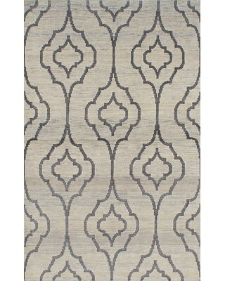 """Groh One-of-a-Kind Hand-Knotted 2010s Gray 4'11"""" x 7'11"""" Wool Area Rug Isabelline"""