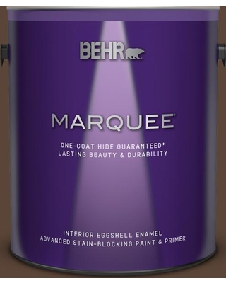 BEHR MARQUEE 1 gal. #N150-7 Chocolate Therapy Eggshell Enamel Interior Paint and Primer in One