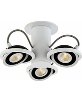 Vision 3-Light White and Black Round LED Track Fixture