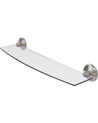 Allied Brass Prestige Monte Carlo 24 in. L x 3 in. H x 5 in. W Clear Glass Bathroom Shelf in Satin Nickel