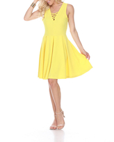 White Mark Shay Fit & Flare Dress, Womens, Size X-large, Yellow