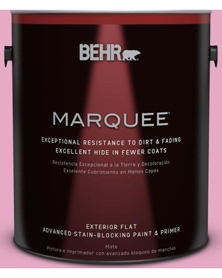 BEHR MARQUEE 1 gal. #P130-3 Little Princess Flat Exterior Paint and Primer in One