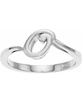 Traditions Sterling Silver Initial Ring, Women's, Size: 8