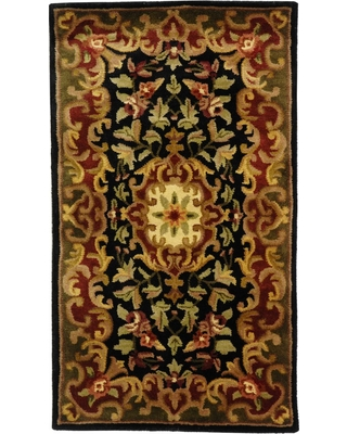 Black/Green Abstract Tufted Accent Rug - (2'3x4') - Safavieh