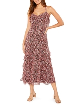 LIKELY Leanne Sleeveless Floral Chiffon Dress, Size 4 in Black/Pink Multi at Nordstrom