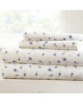 Becky Cameron Premium Ultra Soft Printed 4-piece Bed Sheet Set (Twin - soft floral-light blue)