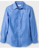 Boys' Long Sleeve Button-Down Shirt - Cat & Jack Blue S, Boy's, Size: Small