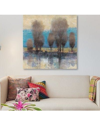 """East Urban Home 'On the Horizon I' Painting Print on Wrapped Canvas ESRB9379 Size: 12"""" H x 12"""" W x 1.5"""" D"""