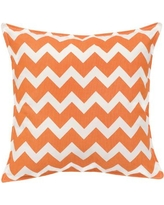 Greendale Home Fashions Chevron Cotton Canvas Throw Pillow TP5213- Color: Orange