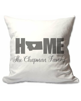 Personalized Montana Home with Heart Throw Pillow East Urban Home Customize: Yes