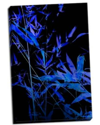Ebern Designs 'Bamboo at Night II' Photographic Print on Wrapped Canvas BI053030