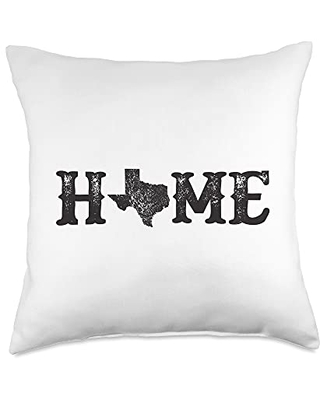 Squatch Design Home State Of Texas Design Simple Southern Dark Throw Pillow, 18x18, Multicolor