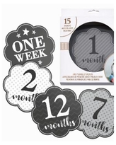 Lillian Rose Baby Belly Stickers, Set of 1-15 - Gray