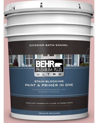BEHR ULTRA 5 gal. #S150-2 Tea Room Satin Enamel Exterior Paint and Primer in One