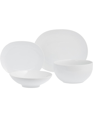 White Coupe Serveware Collection by World Market