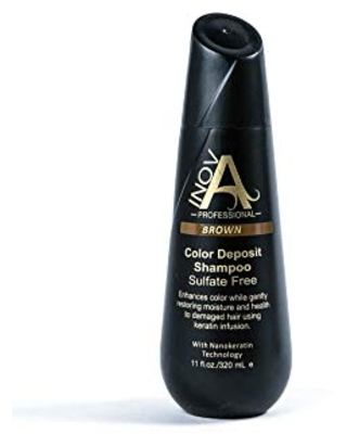 Inova Professional Color Revive & Enhance - Smooth Protection Sulfate-Free Shampoo - Color Deposit Brown, 11 Fluid Ounce