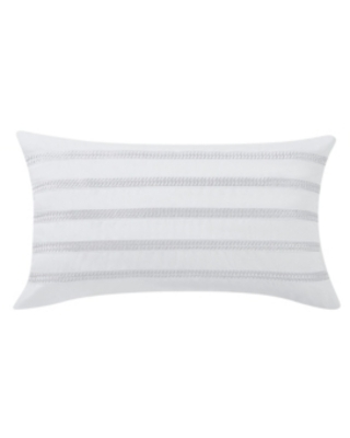 """Charisma Bedford Braided Embroidered Decorative Pillow, 14"""" x 22"""" Bedding"""