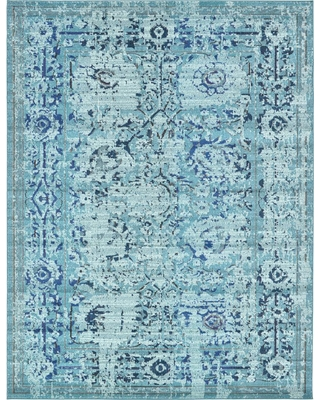 Unique Loom Medici Light Blue 9' x 12' Rug