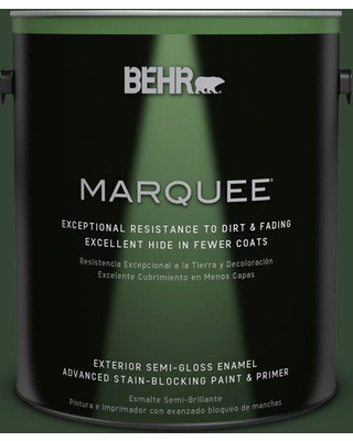 BEHR MARQUEE 1 gal. #ecc-48-3 Lush Grass Semi-Gloss Enamel Exterior Paint and Primer in One