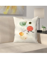 "East Urban Home To the Moon and Back Throw Pillow EUHG3371 Size: 18"" x 18"""