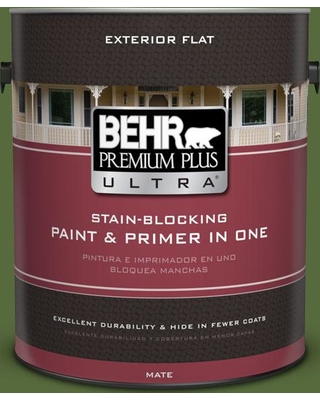 BEHR Premium Plus Ultra 1 gal. #410D-7 Mountain Forest Flat Exterior Paint and Primer in One