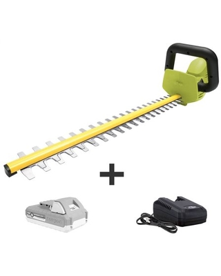Sun Joe 24V-HT22-LTE 24-Volt iON+ Cordless Hedge Trimmer Kit, 22-Inch, W/ 2.0-Ah Battery and Charger