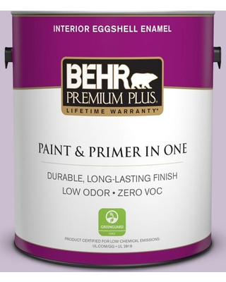 BEHR Premium Plus 1 gal. #S100-2 Romantic Poetry Eggshell Enamel Low Odor Interior Paint and Primer in One