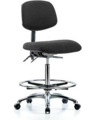 Symple Stuff Jackeline High Bench Ergonomic Office Chair BF162080 Color (Upholstery): Black Casters/Glides: Casters Tilt Function: Included