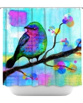 DiaNocheDesigns Unchained Shower Curtain SHO-RobinMeadUnchained