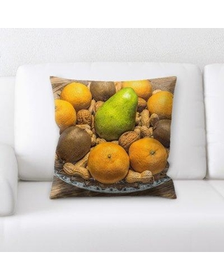 East Urban Home Fruit Bowl Throw Pillow W001056905