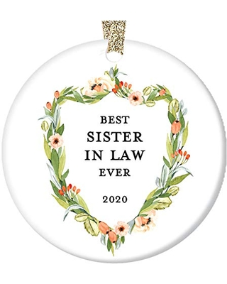 Savings On Sister In Law Christmas Ornament 2020 Bride Groom Sister In Law Present Brother S Wife Family Wedding Thank You Sisters By Marriage Ceramic Keepsake 3 Flat Porcelain W Gold Ribbon Free Gift