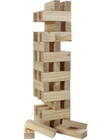 Hathaway Games Block Out Wood Toppling Tower Stacking Set BG3151