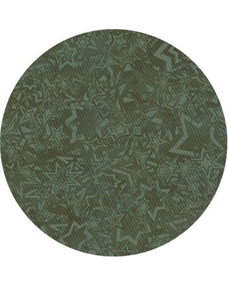 Wool Green Area Rug East Urban Home Rug Size: Round 4'