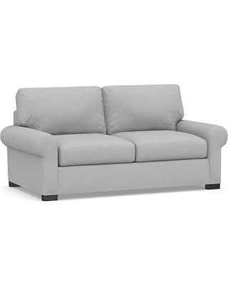 Turner Square Arm Upholstered Deluxe Sleeper Sofa, Polyester Wrapped Cushions, Brushed Crossweave Light Gray