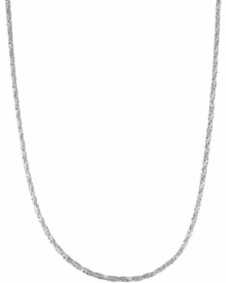 """""""Sterling Silver Foxtail Chain Necklace, Women's, Size: 16"""", Grey"""""""