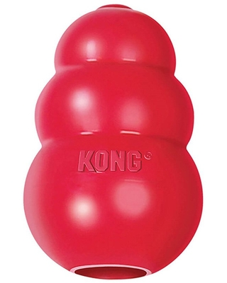 KONG Classic Natural Rubber Treat Stuffer Dog Chew Toy