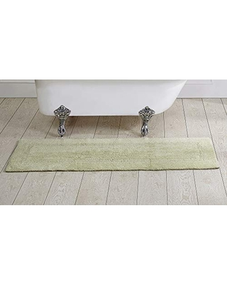 """Better Trends Lux Collection is Ultra Soft Plush and Absorbent Tufted Bath Mat Rug 100 Percent Cotton in Vibrant Colors, 20"""" x 60"""", Sage"""