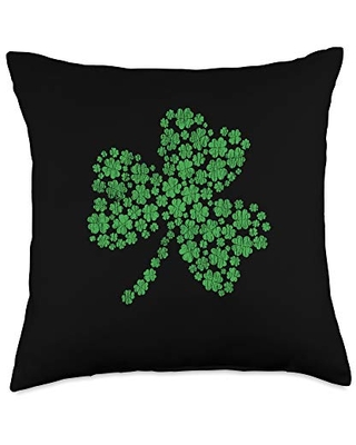 St. Patrick's Day Costume Apparel.USA Lucky Irish Shamrock St. Patrick's Day Matching Group Gift Throw Pillow, 18x18, Multicolor