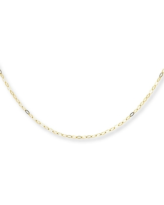 Cable Chain Necklace 14K Yellow Gold 18 Length