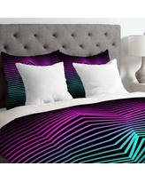 East Urban Home Three of the Possessed Miami Nights Lightweight Duvet Cover EASU8030 Size: Queen