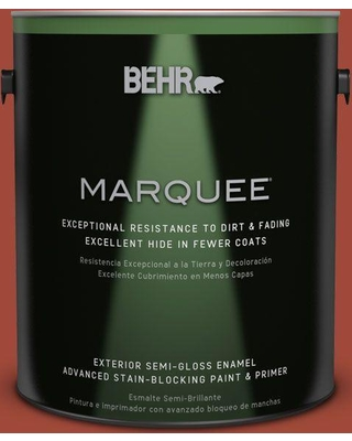 BEHR MARQUEE 1 gal. #ecc-62-3 Volcanic Semi-Gloss Enamel Exterior Paint and Primer in One