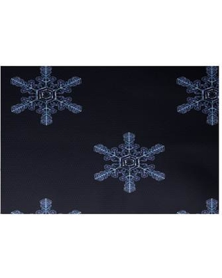 The Holiday Aisle Flurries Decorative Holiday Print Navy Blue Indoor/Outdoor Area Rug HLDY5868 Rug Size: Rectangle 3' x 5'