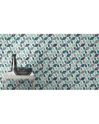 """George Oliver Kennelly Geometric 33' L x 20.5"""" W Wallpaper Roll W001832673 Color: Blue"""