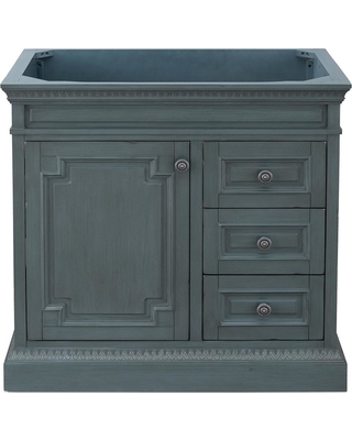 Home Decorators Collection Home Decorators Collection Cailla 36 In W X 21 50 In D Bath Vanity Cabinet Only In Distressed Blue Fog From Home Depot