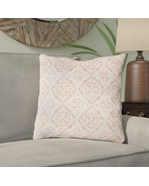 """Bungalow Rose Kody Throw Pillow BNRS2276 Size: 18"""" H x 18"""" W x 4"""" D, Color: Blush / Bright Pink"""