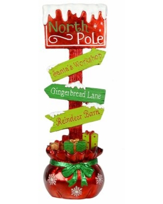 Directional North Pole Sign The Holiday Aisle®