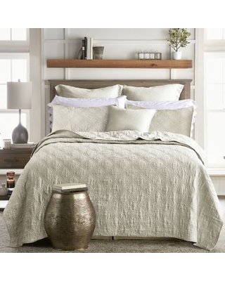Levtex Home Washed Linen King Quilt in Natural
